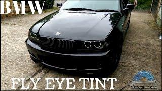 getlinkyoutube.com-Fly eye headlights tint,film in BMW e46