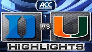 getlinkyoutube.com-Duke vs Miami Basketball Highlights 1/23/13