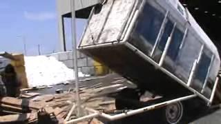 Old home made dump trailer