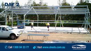 getlinkyoutube.com-Wide Span Sheds Construction Timelapse