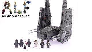 getlinkyoutube.com-Lego Star Wars 75104 Kylo Ren´s Command Shuttle - Lego Speed Build Review