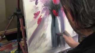 getlinkyoutube.com-Цветы в стеклянной вазе