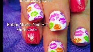 getlinkyoutube.com-Rainbow Kiss Nails! DIY Spring Lip Print Nail Art Design Tutorial