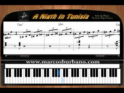 A Night in Tunisia - SOLO DE PIANO - TUTORIAL SALSA - LATIN JAZZ - papo lucca