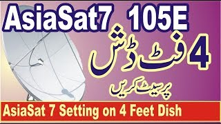 AsiaSat 7 105East Setting on 4 Feet Dish and Scanning