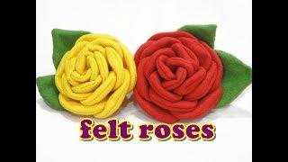 getlinkyoutube.com-Felt Craft Tutorial - ROSE