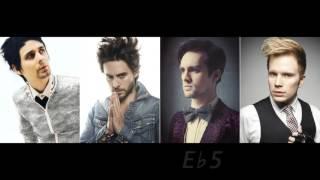 getlinkyoutube.com-Vocal Range Battle: Matt Bellamy, Jared Leto, Brendon Urie and Patrick Stump
