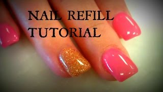 getlinkyoutube.com-ACRYLIC NAILS REFILL TUTORIALS