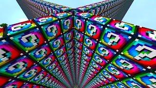 Minecraft 1v1v1v1 SPIRAL LUCKY BLOCK WALLS! #1 | (Minecraft Modded Minigame)