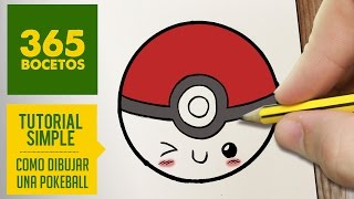 getlinkyoutube.com-COMO DIBUJAR UNA POKEBALL KAWAII PASO A PASO - Dibujos kawaii faciles - How to draw a pokeball