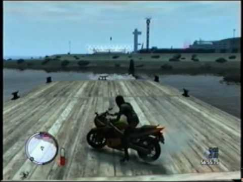 GTA 4 Moto jumping at airport with turbo