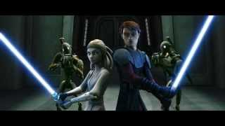 getlinkyoutube.com-Star Wars: The Clone Wars - Adi Gallia & Anakin rescuing Eeth Koth [1080p]