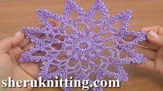 getlinkyoutube.com-Crochet Twelve-Pointed Snowflake Tutorial 21 Part 1 of 2