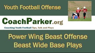 Beast Wide Youth Football Offense Playbook Base Plays