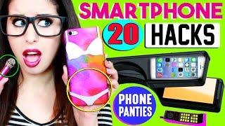 getlinkyoutube.com-20 Smartphone, iPhone & Android Hacks For School | Phone Panties, Candy Stylus Pen & Mini Mic!
