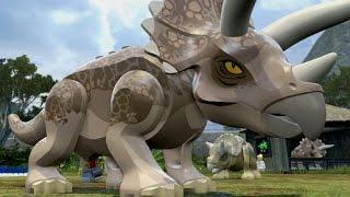 getlinkyoutube.com-LEGO Jurassic World - Triceratops Territory Free Roam (Jurassic Park Hub)