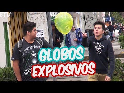 Reventando Globos de la gente | Globos Explosivos | Bromas |