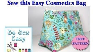 getlinkyoutube.com-Sew an easy cosmetics bag