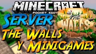 getlinkyoutube.com-NUEVO SERVER THE WALLS, MINIGAMES Y MAS!! PARA MINECRAFT PE 0.14.0 OFICIAL