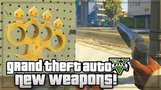 getlinkyoutube.com-GTA 5 Ill Gotten Gains Part 2 NEW Weapons Knuckle Duster & Marksman Pistol