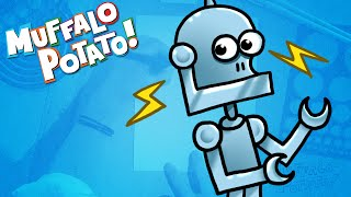 getlinkyoutube.com-How to Draw A ROBOT Using Letters and Numbers with Muffalo Potato