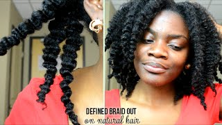 getlinkyoutube.com-Defined Braid Out Tutorial on Natural Hair