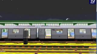 getlinkyoutube.com-OpenBVE NYCT (Y) Train Arriving and Departing @ Bedford Pk Blvd