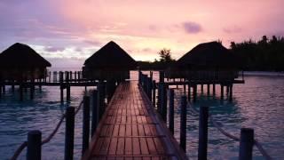 getlinkyoutube.com-Bora Bora, French Polynesia - Sunset at the Bora Bora Pearl Beach Resort and Spa HD (2017)