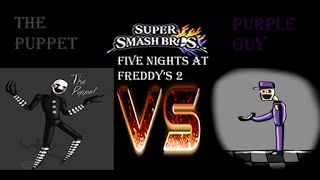 "getlinkyoutube.com-Super Smash Bros Wii U - Purple Guy vs ""The Puppet"" Five Nights At Freddy's 2 SMASH"