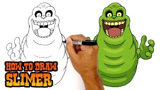 getlinkyoutube.com-How to Draw Slimer (Ghostbusters)- Art Lesson for Kids