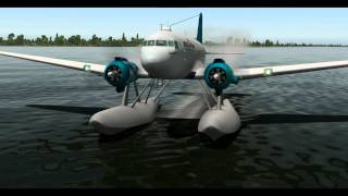 getlinkyoutube.com-MiSO X-Plane Douglas DC-3 Floats Take off on the water MWCL to MKJS