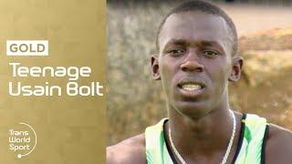 getlinkyoutube.com-Teenage Usain Bolt on Trans World Sport