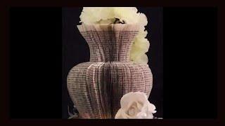 getlinkyoutube.com-Book folding - Part 1 - vase 1