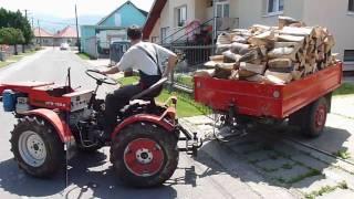 getlinkyoutube.com-malotraktor MT8 - 132.2 a vlečka