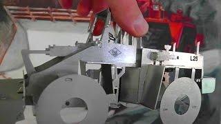 getlinkyoutube.com-ORIGAMI Radlader aus lasergeschnittenem EDELSTAHL | folding lasercutted STAINLESS STEEL wheel loader