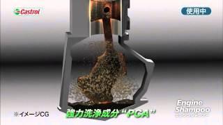 カストロール エンジンシャンプー エンジンオイル一発洗浄 エンジンシャンプ-紹介動画