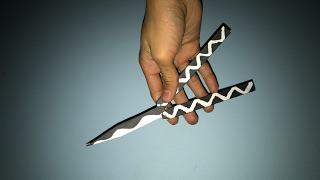 How To Make A Paper Butterfly Knife / Balisong (Simple Version)