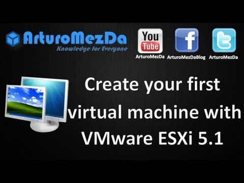 Create your first virtual machine with VMware ESXi 5