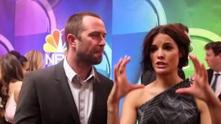 getlinkyoutube.com-The Blindspot: Sullivan Stapleton & Jaimie Alexander 2015 NBC Upfronts Red Carpet Interviews