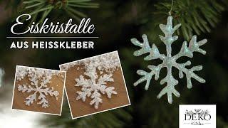 getlinkyoutube.com-Weihnachtsdeko basteln: funkelnde Eiskristalle aus Heißkleber - How to | Deko Kitchen