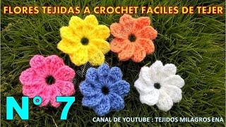 getlinkyoutube.com-Flores tejidas a crochet fáciles de tejer # 7