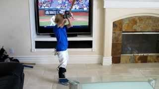 getlinkyoutube.com-When You Let Your Kid Play Ball in the House, 4 year-old Baseball Trick Shot Kid Christian Haupt