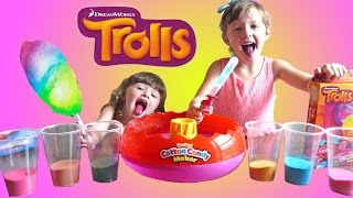 getlinkyoutube.com-TROLLS MOVIE Super FUN Cotton Candy Maker | The Disney Toy Collector
