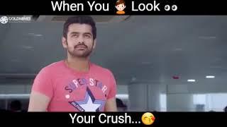 When You Look 👀 Your Crush 👧 |Whatsapp Status Video|Badshah Status Zone