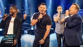 Sexiest-Male-Vocalist-Riff-Off-w-Usher-Luke-Evans width=