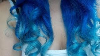 getlinkyoutube.com-Dying My Hair Blue | #2