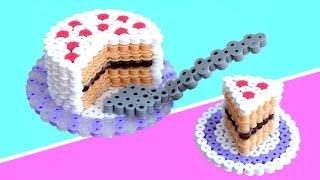 getlinkyoutube.com-PASTEL o TARTA 3D de hama beads (perler bead)