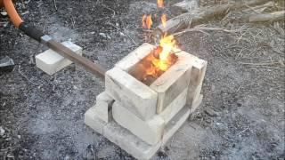getlinkyoutube.com-Forging A Stump Anvil