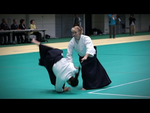 Janet Clift - Aikido Demonstration - 12th IAF Congress (2016)