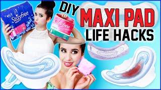 getlinkyoutube.com-10 DIY Maxi Pad Life Hacks!   10 NEW Ways To Use Maxi Pads!   Apply Makeup, Clean & MORE!